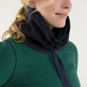 Lululemon avenue pullover in stripe green/inkwell